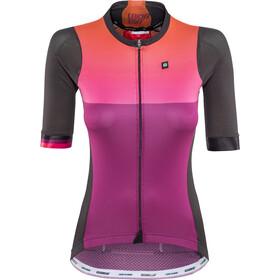 Biehler Pro Team - Maillot manches courtes Femme - violet/noir